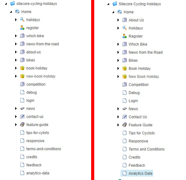 Sitecore Item name comparison