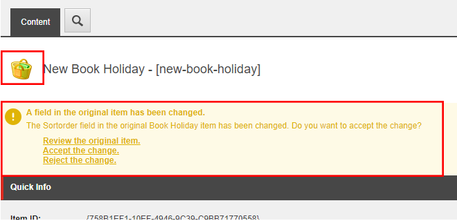 Sitecore item icons and alert messages