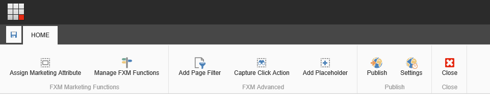 FXM Experience Editor cuttons