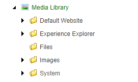 Default Media Library Folders