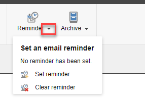 Expand the Reminder option