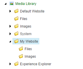 Media Library with site media files off the library root